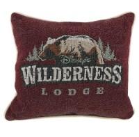 Disney Throw Pillow - Wilderness Lodge - Logo