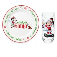 Disney Cookie Plate and Milk Glass Set