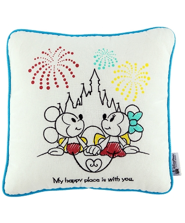disney throw pillow mickey and minnie castle my happy pl