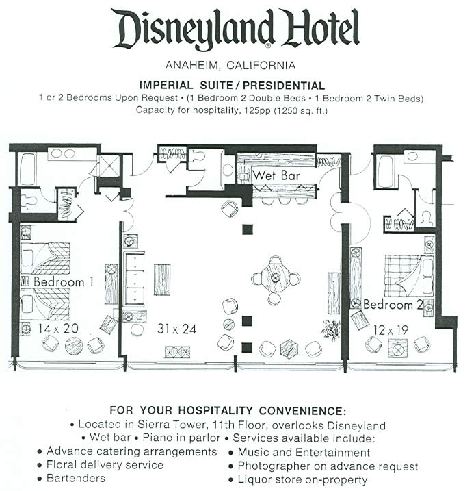 Disneyland Hotel Three Bedroom Suite Layout Www