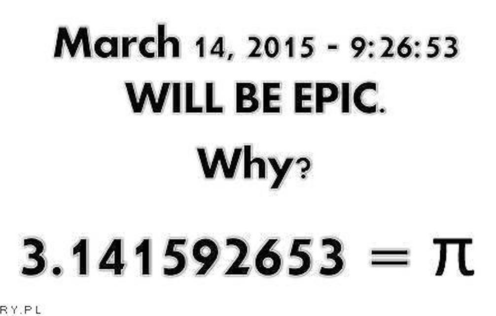 Why will March 14th 2015, 9:26:53 be very important for