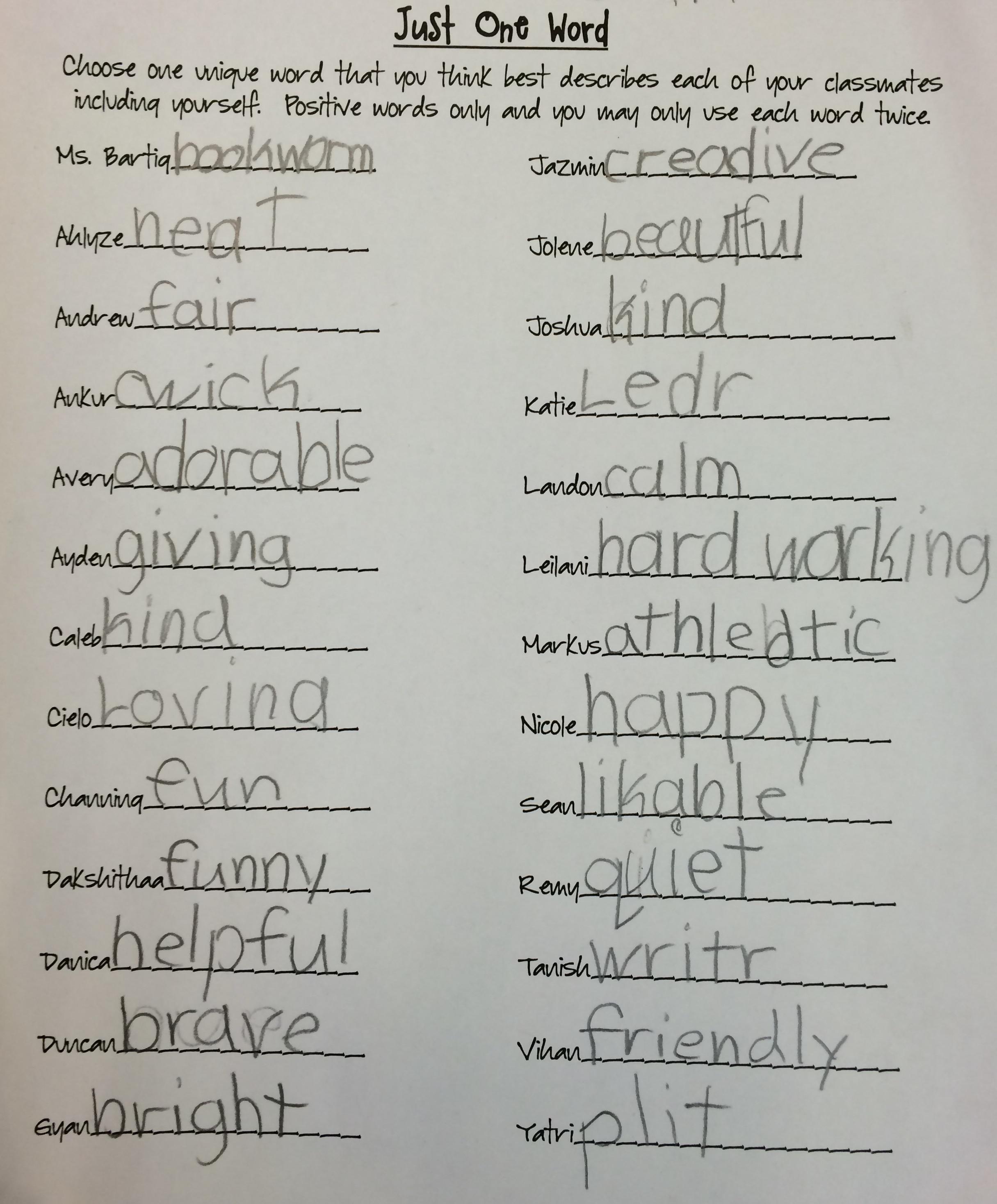 Worksheet Wordle