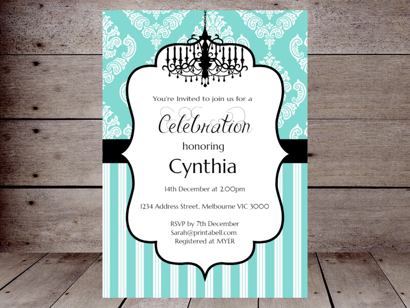Birthday Invitations Editable