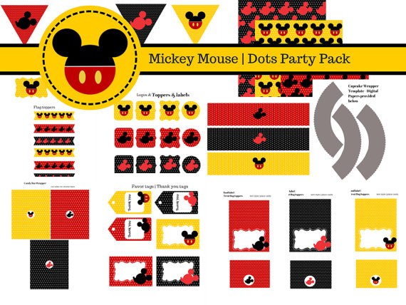 photo about Mickey Mouse Printable titled No cost Mickey Mouse Printables