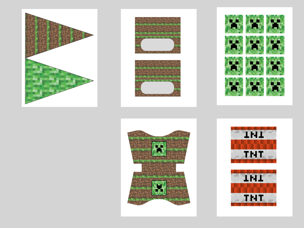 Gratifying image in minecraft party ideas printable