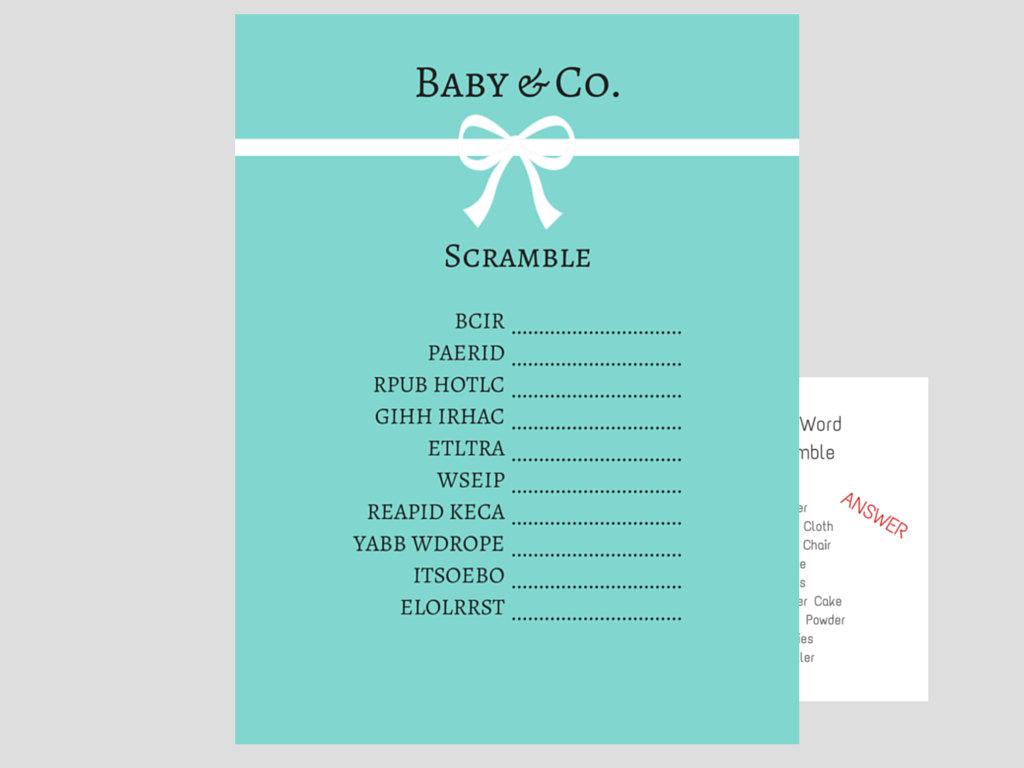 Tiffany Baby Word Scramble