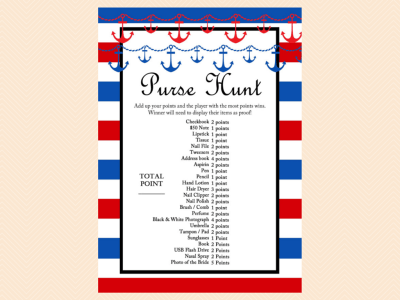 Nautical Bridal Shower Game Package Magical Printable