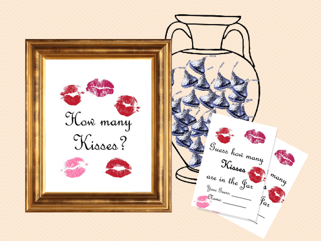 Guess How Many Kisses There Are In A Jar