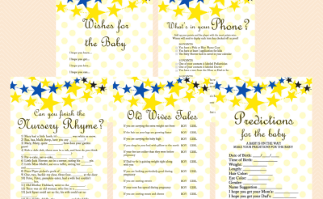 Twinkle Twinkle Baby Shower Game Magical Printable
