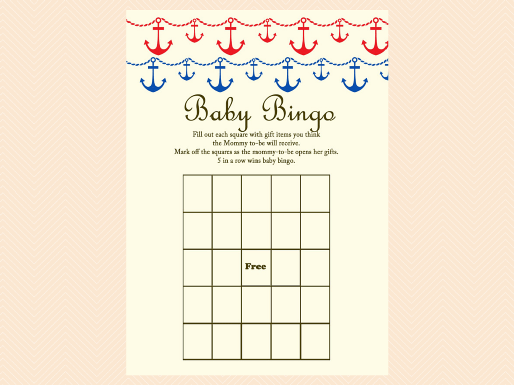 Beach Nautical Baby Shower Game Package