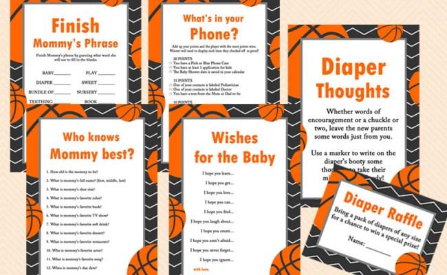 Basketball Baby Shower Game Pack Magical Printable