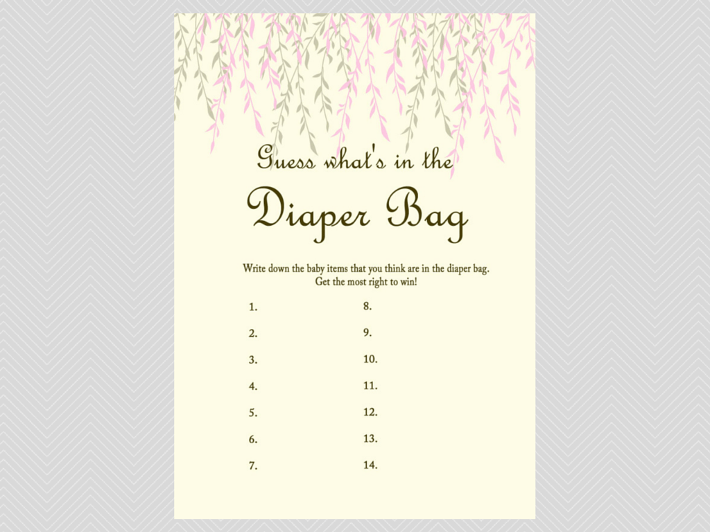 Willow Tree Baby Shower Game Package
