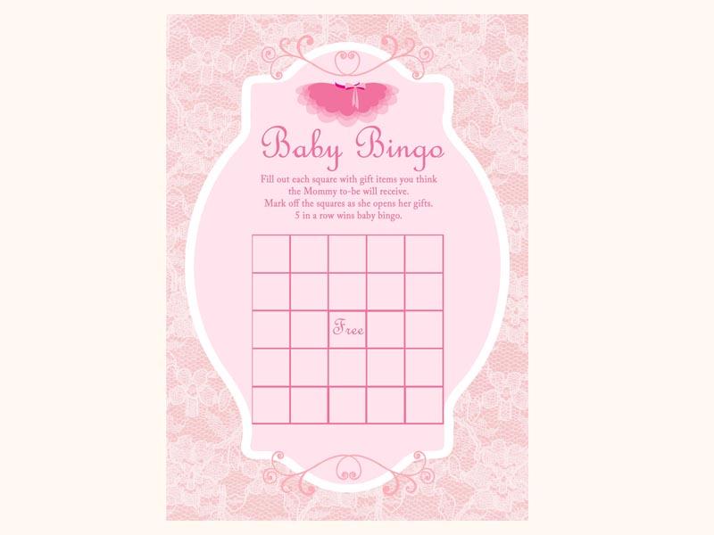 Tutu Ballerina Baby Shower Game Magical Printable