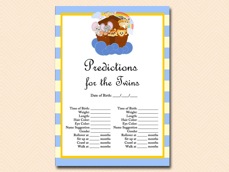 Gutsy image with twin baby shower games free printable