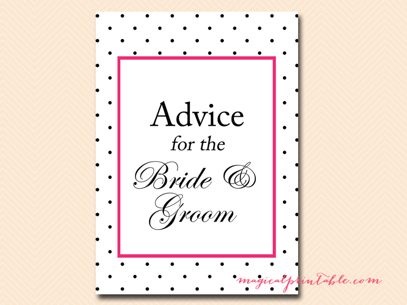Kate Spade Inspired Hot Pink, Dots Bridal Shower Games