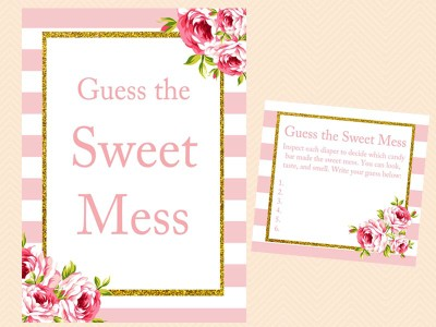 Pink Floral Baby Shower Game Set Magical Printable