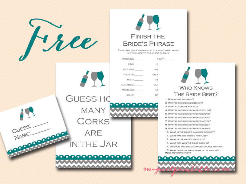 free bridal shower games