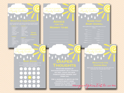 You Are My Sunshine Baby Shower Pack Magical Printable