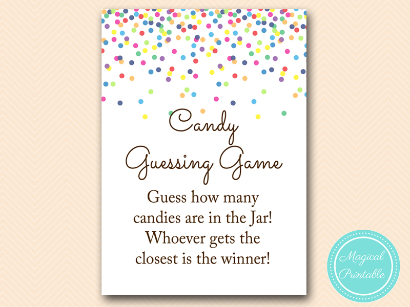 Baby Sprinkle Games Confetti Baby Shower Games Magical