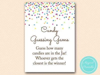 Baby Sprinkle Games Confetti Baby Shower Games Magical Printable