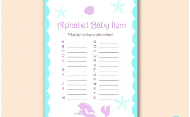 Mermaid Baby Shower Games Magical Printable