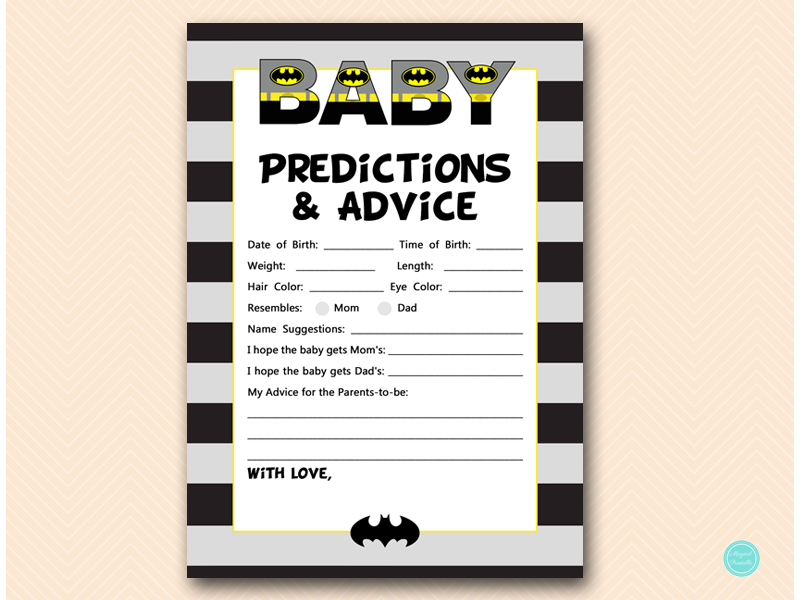 Batman Baby Shower Game Package Magical Printable