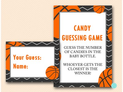 Basketball Baby Shower Game Pack - Magical Printable