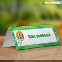 Bubble Guppies Editable Birthday Tent Cards