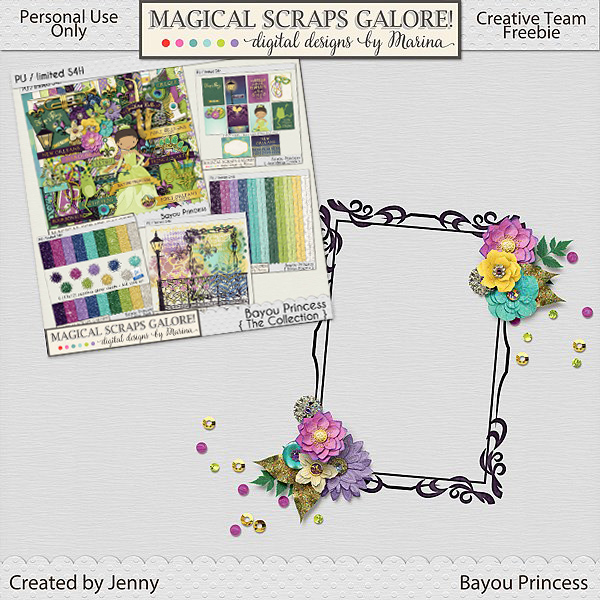 New theme park collection: BAYOU PRINCESS, plus a gorgeous freebie!