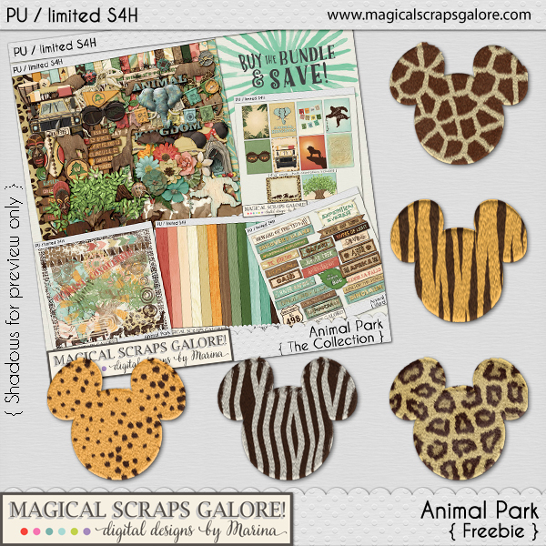 New theme park collection: ANIMAL PARK! (and 2 coordinating freebies!)