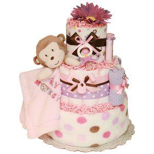 Monkey-girl-mini-diaper-cakes