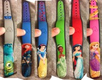 A number of new MagicBand designs appear in the MagicBand