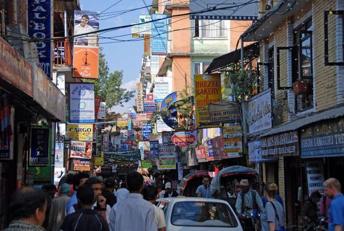 Kathmandu 02 01 Thamel Busy Street