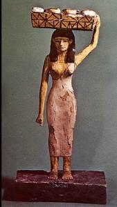 הולדת משה - שמות ב שפחה מצרית עם סל על ראשה.