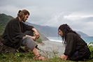 L-R: Andrew Garfield plays Father Rodrigues and Yosuke Kubozuka plays Kichijiro in the film SILENCE