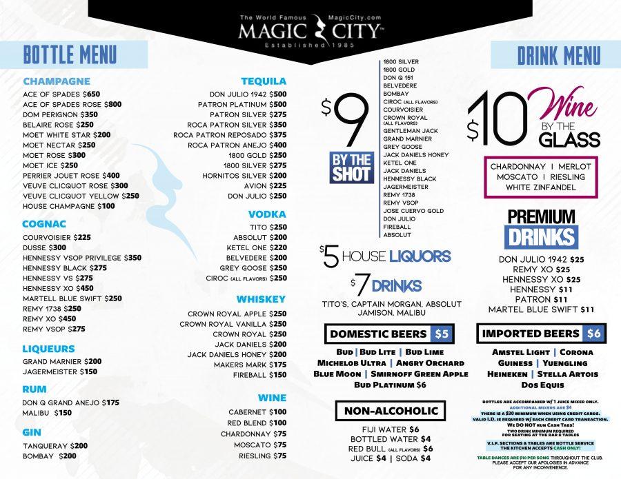Menus  Magic City