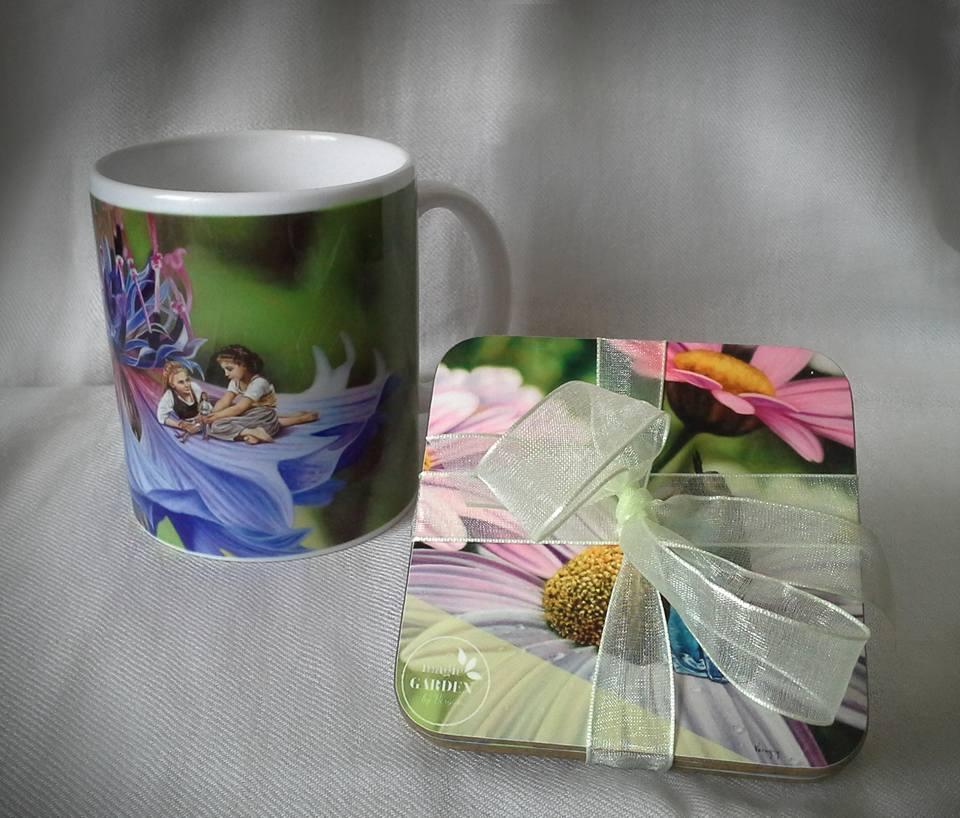 Tazas y posa vasos Magic Garden by Vergara