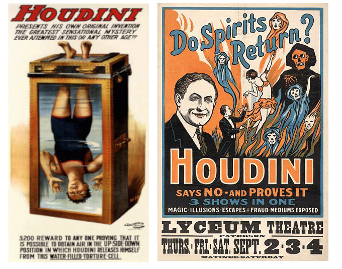Affiches spectacles de Houdini