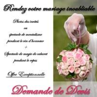 Tarif magicien mariage / célébration