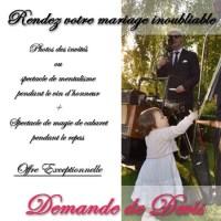 Photo et magie pour un mariage ou une soirée privée