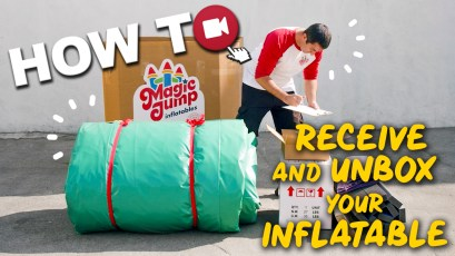 Check out these easy steps on how  to receive and unbox your commercial grade inflatable.