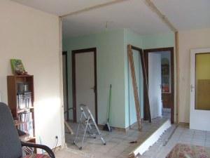 Suppression d'un mur en placo pour agrandir la pièce