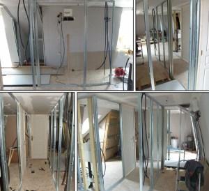 Blog de magicmanu :Aménagement de notre maison, Les cloisons du couloir