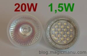 Spots à LED sur Câbles