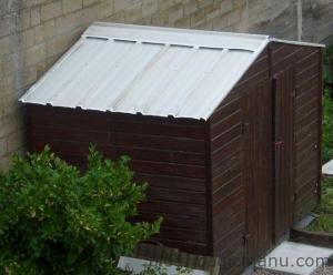 Blog de magicmanu :Aménagement de notre maison, Abri de jardin - Le toit