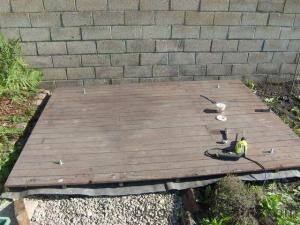 Abri de jardin – La fixation au sol