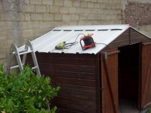 Abri de jardin – Le toit