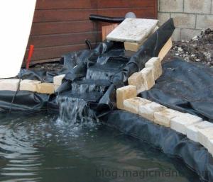 Blog de magicmanu : Aménagement de notre maison, Bassin de jardin - La cascade