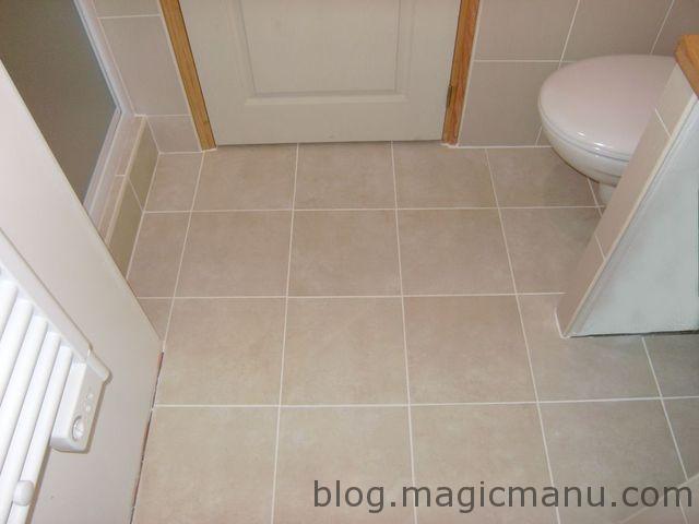Carrelage sol salle de bain