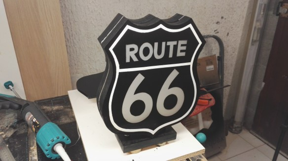 Urne Lumineuse Route 66 5